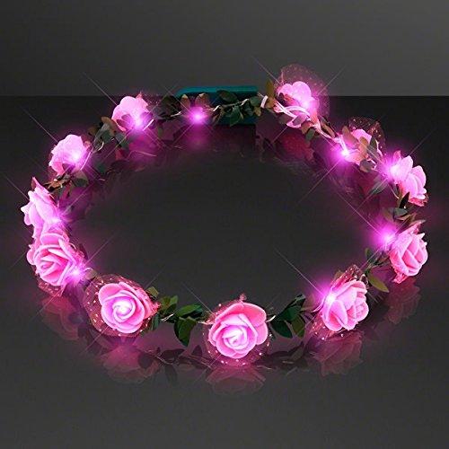 blinkee Light Up Rose Flower Princess Halo Crown -