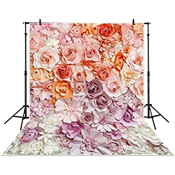 Amazon allenjoy 5x7ft photography backdrop paper flower wall allenjoy 5x7ft photography backdrop paper flower wall gorgeous wedding baby shower beautiful bride background props photocall mightylinksfo