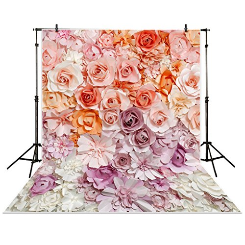 Allenjoy 5x7ft Photography Backdrop paper flower wall gorgeous wedding baby shower Beautiful bride background props photocall photobooth photo studio