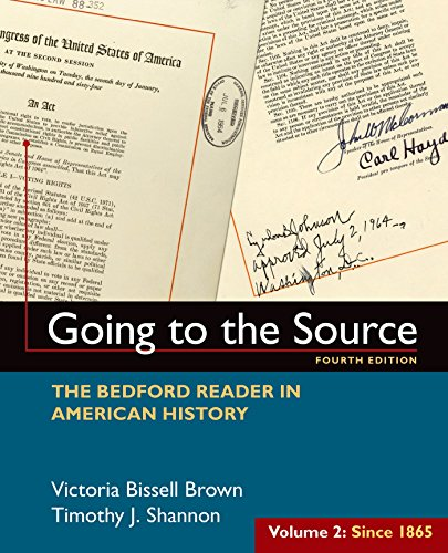 Going To The Source:Bedford Reader,V.2