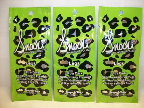 3 packets Snooki Ultra Dark Leg Bronzer Hair Growth Inhibito