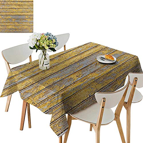 UHOO2018 Square/Rectangle Polyester Tablecloths red barn Wooden wplak Horizontal Textured Retro woo slats Fuitable for Home use,54 x111inch