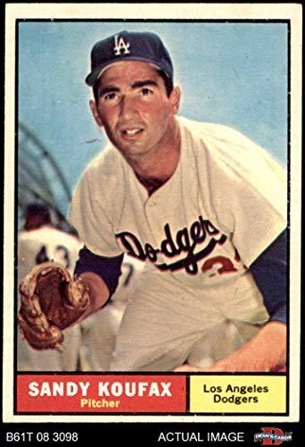 1961 Topps # 344 Sandy Koufax Los Angeles Dodgers (Baseball Card) Dean's Cards 4 - VG/EX Dodgers
