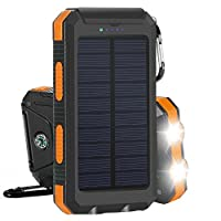 Solar Charger, Solar Power Bank 10000mAh...