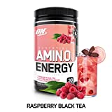 Optimum Nutrition Amino Energy with Green Tea and Coffee Extract, Raspberry, 270 Gram, 9.5 Ounce (1 Count)