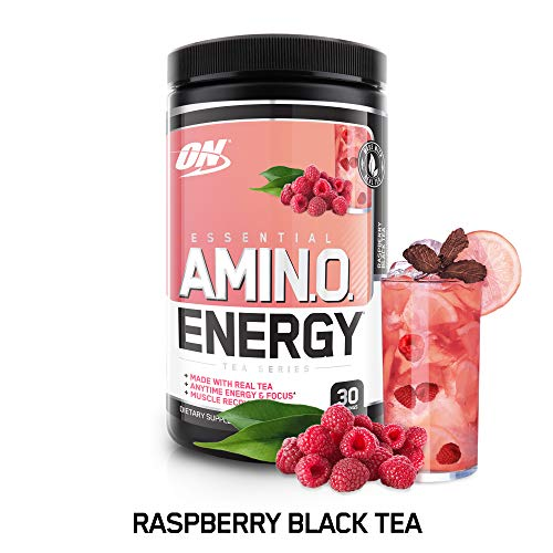 Optimum Nutrition Amino Energy with Green Tea and Coffee Extract, Raspberry, 270 Gram