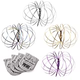 KELZ KIDZ Kinetic 3D Flow Rings Made from High Grade Stainless Steel (12 Pack Assorted)