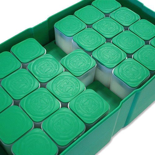 Silver Eagle Green Monster Box With 25 Empty Coin Tubes