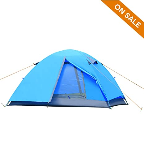 CCTRO 2 Person C&ing Tent Double Layer Waterproof Lightweight 3 Season Windproof Backpacking Tents for  sc 1 st  Amazon.com & Amazon.com : CCTRO 2 Person Camping Tent Double Layer Waterproof ...