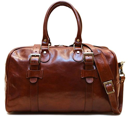 Super Tuscan Leather Duffle Travel Bag Model #3 by Floto