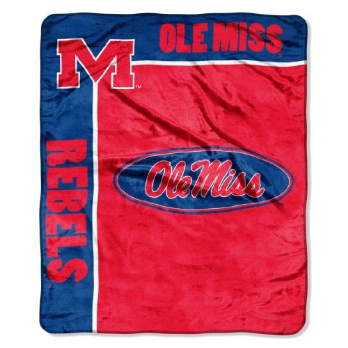 Officially Licensed NCAA Mississippi Old Miss Rebels School Spirit Plush Raschel Throw Blanket, 50
