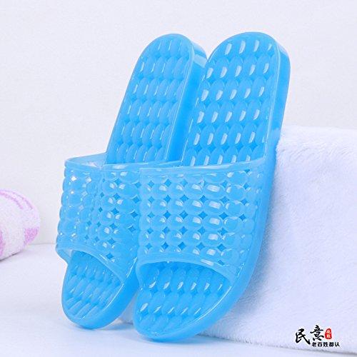 YMFIE Color Transparente Ahuecar baño Antideslizante Zapatillas Sandalias Amantes de Verano Piscina Zapatos E