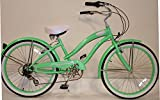 Micargi Rover 7-speed 24″ for Women (Mint green), Beach Cruiser Bike Schwinn Nirve Firmstrong Style Review