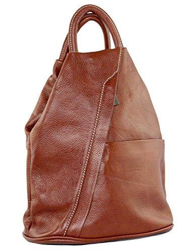 Handbag Rucksack Daniela Bag Moda Daypack Cavalieri Italian Leather School Backpack Brown zHp6Hc8S
