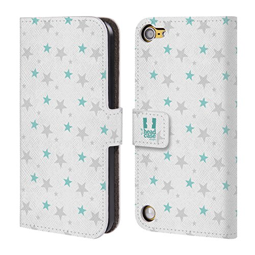 Head Case Cielo DInverno Pattern Di Stelle Cover telefono a portafoglio in pelle per Apple iPod Touch 5G 5th Gen / 6G 6th Gen
