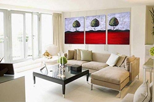 arboles abstractos del arte de la lona de impresion - Adornos de Pared - Galeria de arte moderno forrado con marco listo para colgar (16in * 24in * 3Panels) # 10-92