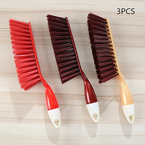 Counter Duster Bed Sheets Debris Cleaning Brush Cleaning Brush Soft Bristle Desk Sofa Duster Small Particles Hair Remover 3PCS (Random Color)