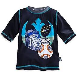 Star Wars: The Force Awakens Rash Guard for Boys Size 5/6 Black