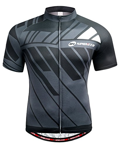 sponeed Bicycle Mens Jersey Short Sleeve Jackets Biker Shirt Tops Full Zipper US XL Multi by sponeed