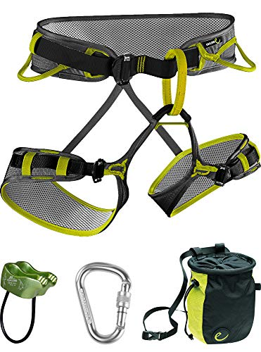 Edelrid Climbing Harness - EDELRID - Zack Harness Package, Slate/Oasis, Large
