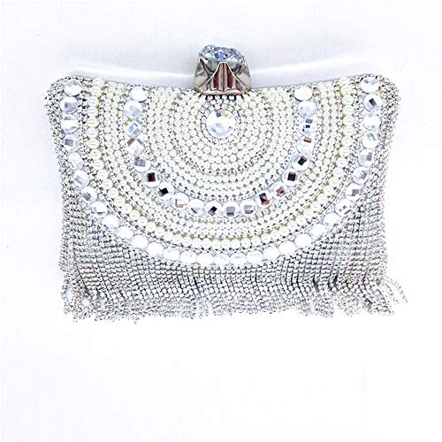 for Clubs Party Clutch Crystal Bag amp; Jxth Occasion Clutch Bags Wedding Women's Silver Evening Purse Tassel Evening Handbag Special Handbags Clutches Gold Purse Evening Color CdUT1xd