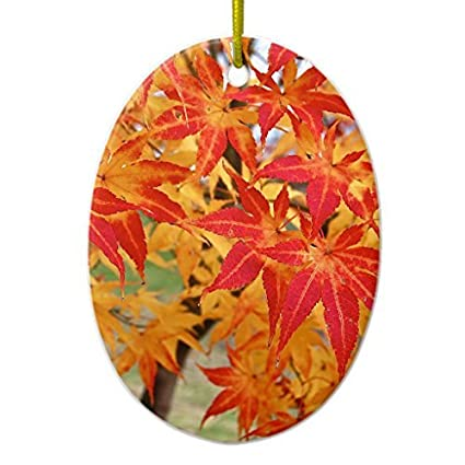 christmas tree decorations beautiful japanese maple tree in fall ceramic ornament oval christmas ornament crafts xmas - Japanese Christmas Tree Decorations