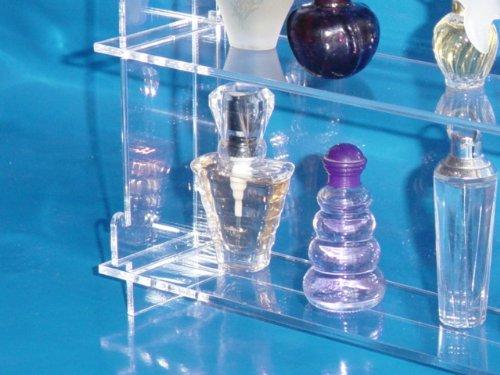 Setzkasten Setzkasten Setzkasten für Parfum Miniatur Flakons aus Acrylglas SL017 Rückwand Transparent 170684