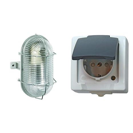 Lampa Steckdose Gehäuse für 1 Anschluss