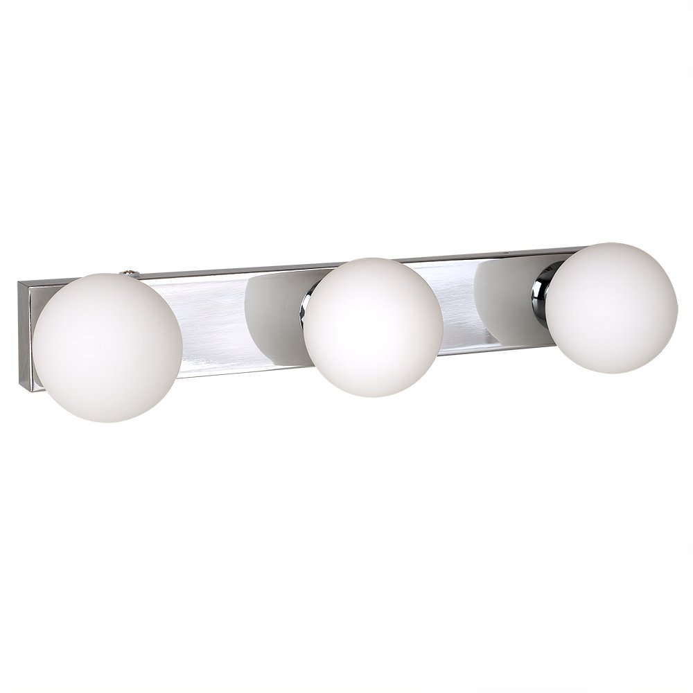 Modern 3 Way Chrome & Glass Flush IP44 Bathroom Ceiling Light MiniSun