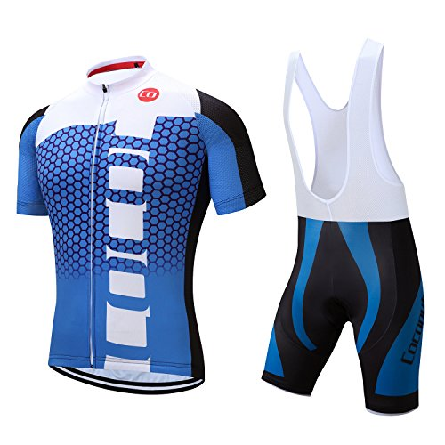Coconut Ropamo Pro Team Men's Cycling Jersey Bib Shorts With 3D Padded (Chest 38-40