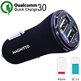 Car Charger MAGNITTO 5.4A Dual USB Ports 36W Cell Phone Fast Car Adapter Compatible with Quick Charge 3.0, Samsung Galaxy S9 S8 Plus Note 9 8 S7, iPhone X 8 7 6S 6, iPad, LG V30 G5 G6 V20, Moto Z/Z2