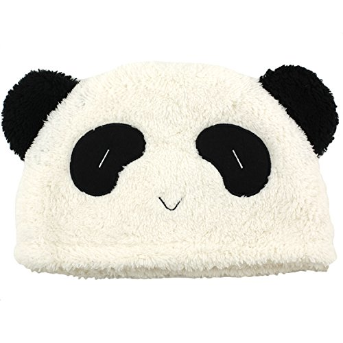 Panda Bear Hat - Plush Fun Fur Cosplay Anime Animal Hats - Happy - Hatimals For Kids