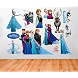 Clest F&H wall stickers Frozen Queen Elsa Adorable & Sweety wall Decal DIY Family Fashion Wall Decoration Sticker by Mmiao