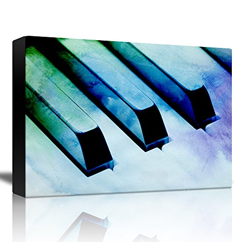Piano with a Blue Green and Purple Watercolor Texture