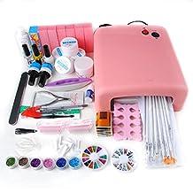 Coscelia 36W UV Gel Lamp Dryer Nail Art Manicure Glitter Salon Polish Kit