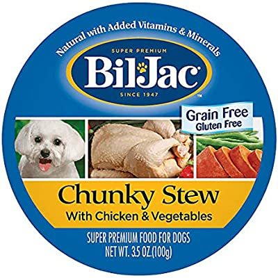 BilJac Grain Free/Gluten Free Chunky STEW with Chicken & Vegetables (8-Individual Cups) (Net wt 3.5 oz Each)