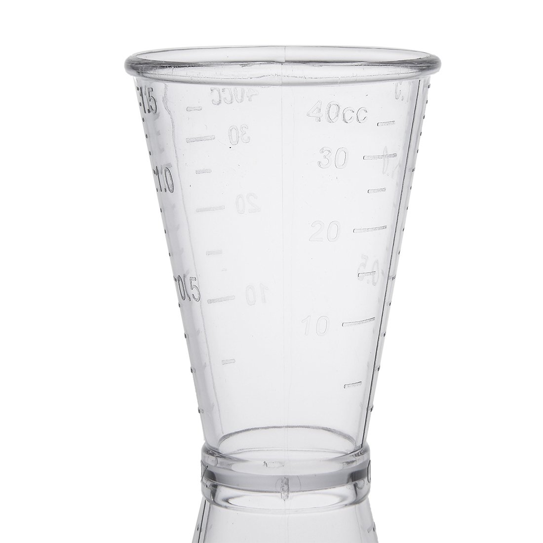 sourcing map Dual Clear Plastic Shot Glasses Drink Spirit Measure Cup for Bar Party Kitchen Tool