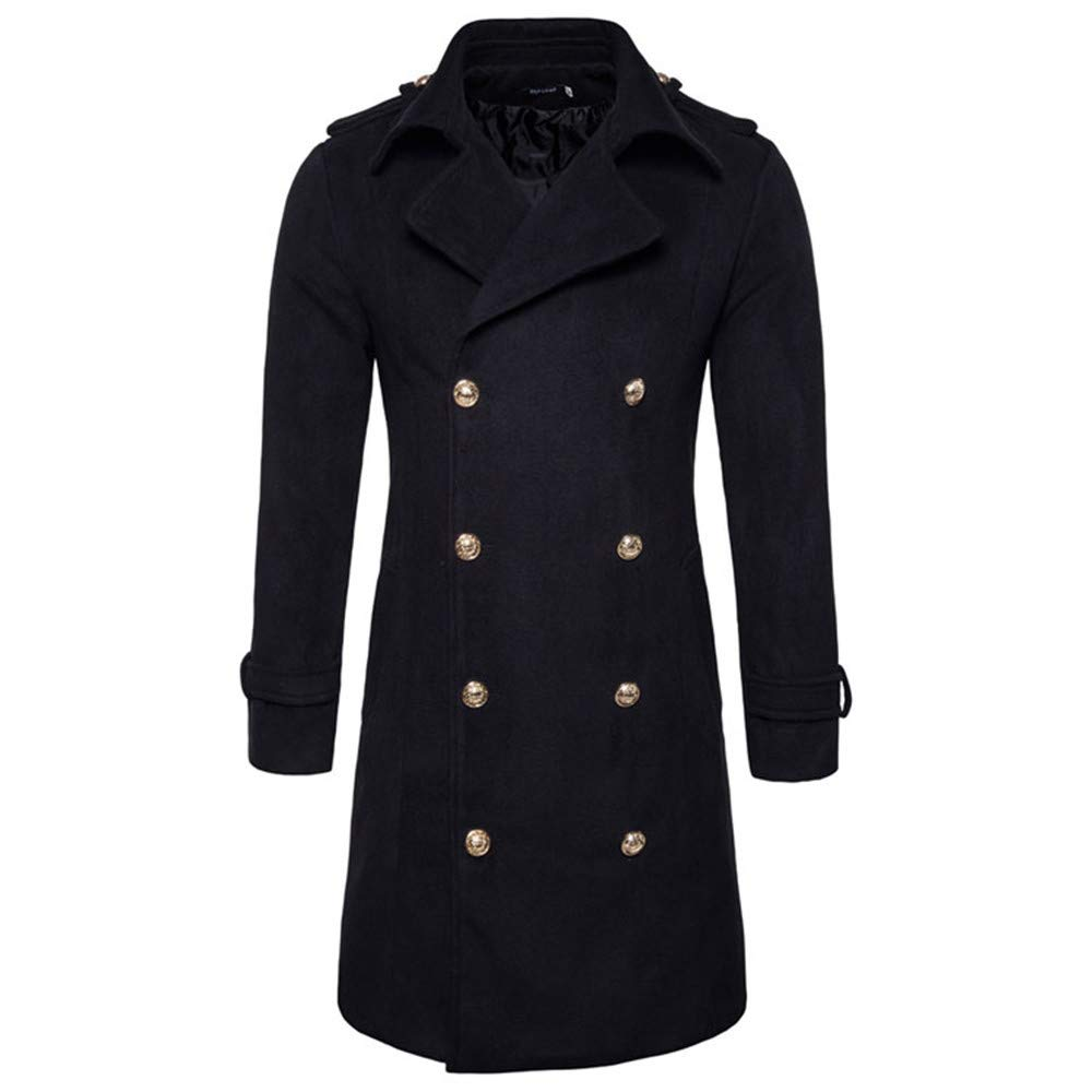 Pandaie-Mens Product Waterproof Jackets for Men Lightweight Long. Men's Lapel Woolen Coat Blouse