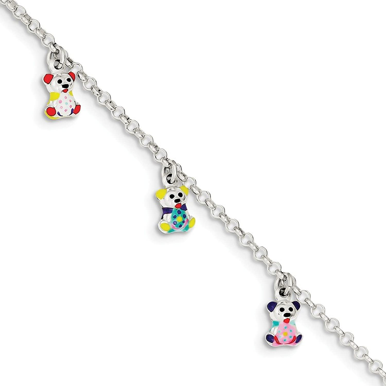 chic Sterling Silver Enameled Baby Charm Bracelet mason360