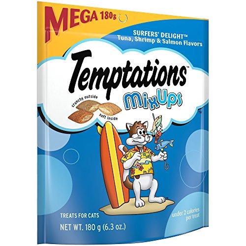 Temptations Mixups Cat Treats SurferS Delight Flavor, (10) 6.3 Oz. Pouches