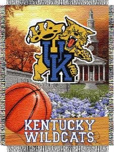 (The Northwest Company Kentucky Wildcats NCAA Woven Tapestry Throw (Home Field Advantage) (48x60))