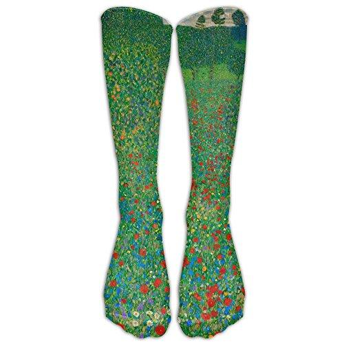 Poppy Field Athletic Tube Stockings Women's Men's Classics Knee High Socks Sport Long Sock One Size