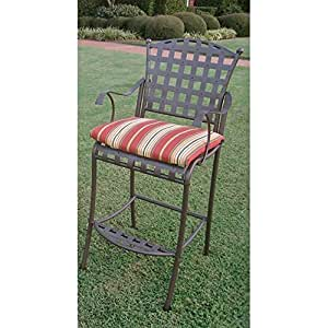 Blazing Needles Outdoor 20 x 17 in. Bistro Chair Cushion - Set of 2