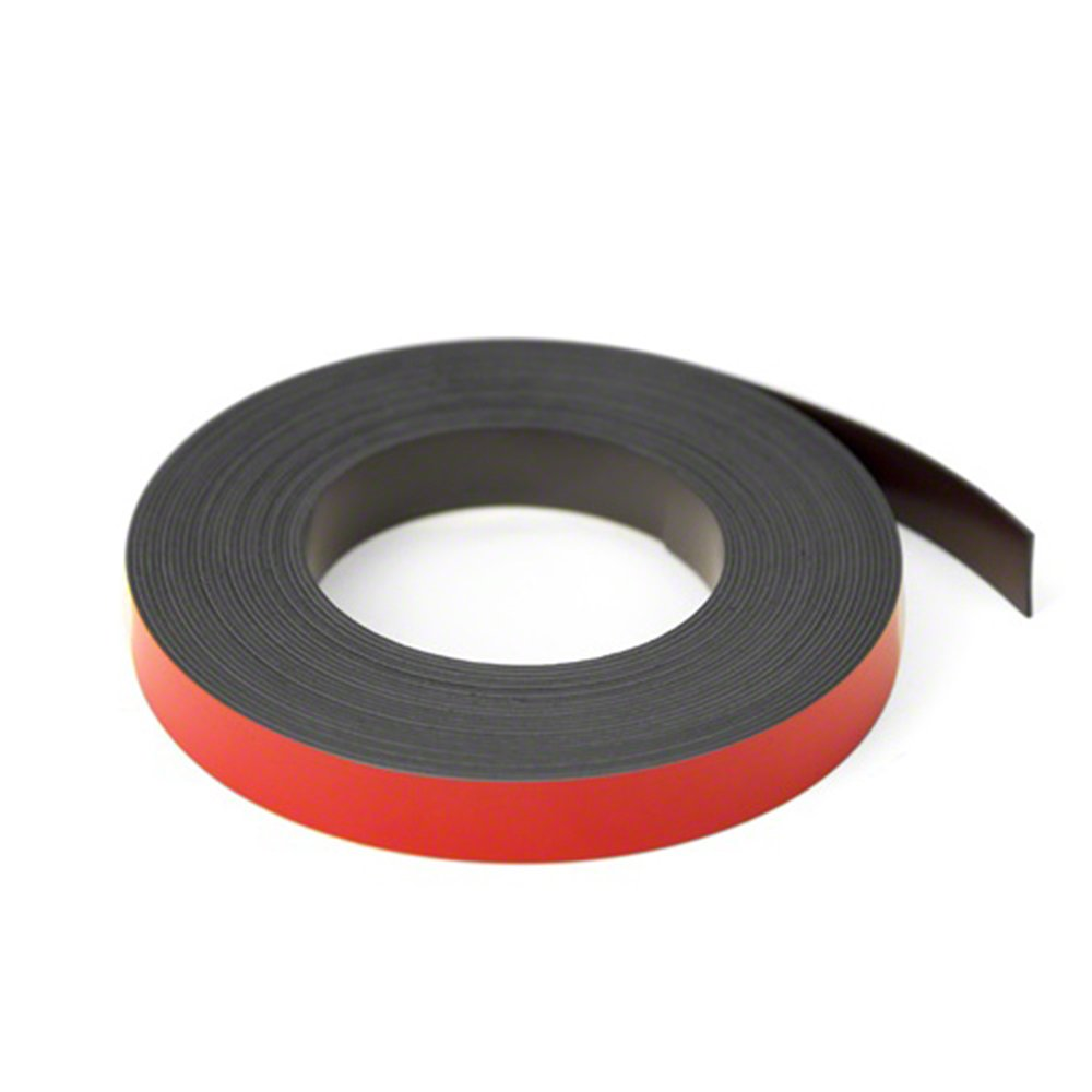 Magnet Expert Red 12.7mm wide x 0.76mm thick Magnetic Gridding Tape ( 12.7mm x 0.76mm x 5 Metres ) ( Pack of 5 ) Magnet Expert® MFL12(RE)-5X5M