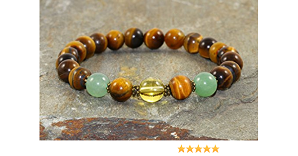 and Citrine Carnelian Handmade Attract Abundance Intention Bracelet with Hawks Eye