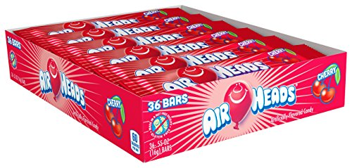 Assorted Royal Toffees (Airheads Candy Individually Wrapped Bars, Cherry, Valentines Candy, 0.55 Ounce (Bulk Pack of 36))