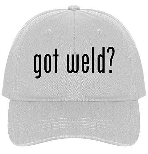 (The Town Butler got Weld? - A Nice Comfortable Adjustable Dad Hat Cap, White)