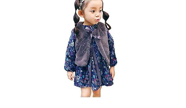 JYC Vestidos Bebe Niña, Vestido de niñas, Recién Nacido Bebé Dibujos Animados Calentar Princesa Vestir+Chaleco Trajes Ropa Conjunto: Amazon.es: Ropa y ...