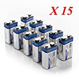 EBL 600mAh Rechargeable 9V Batteries Lithium-ion, 150 Pack