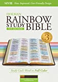 img - for NIV Rainbow Study Bible, Cocoa/Terra Cotta/Ochre LeatherTouch, Indexed book / textbook / text book